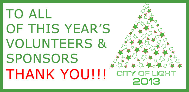 City of Light 2013 Thank You
