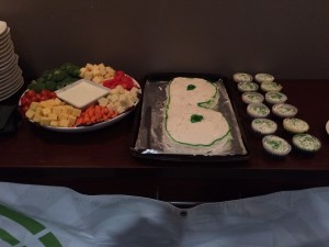 Party Tray B Cake and Cupcakes